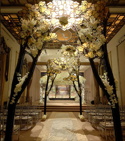 Wedding floral arbors