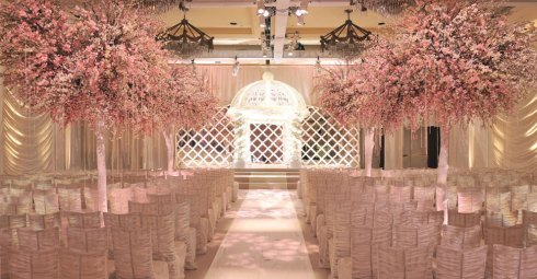 Wedding trees - pink blossoms