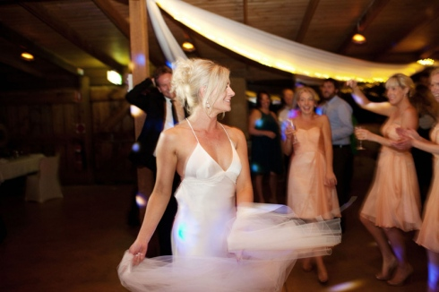 Bride dancing at Hunter Valley wedding