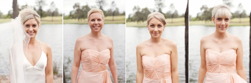 peach bridesmaids