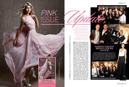 Pink wedding dresses and National Breast Cancer Foundation