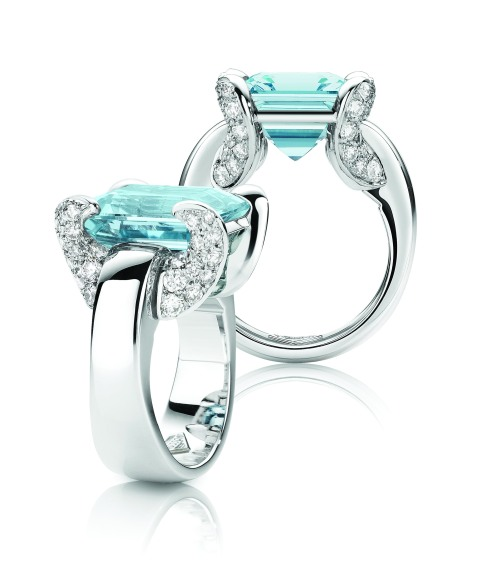 Aqua Marine and diamond rings