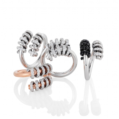 Spiral wedding rings
