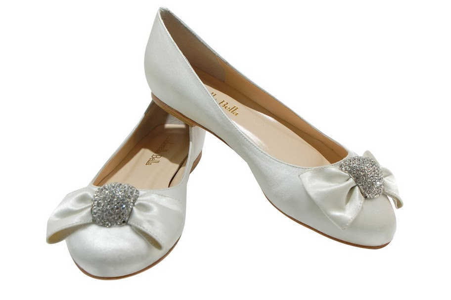 Ballet flat wedding shoes Cinderella Bella 39s Chloe