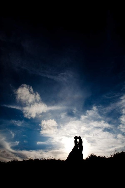 Wedding photography at sunset