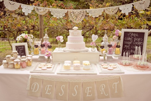 Dessert Buffet - pink romantic