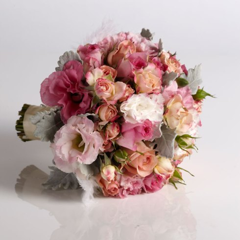 Wedding flowers - peach and pink