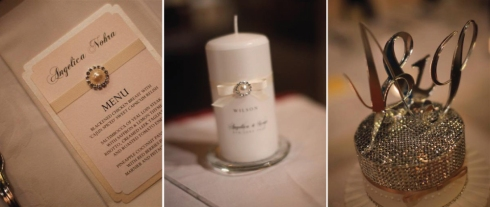 Personalised wedding details