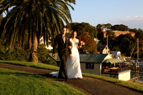 Bride and groom at Balmain Sydney