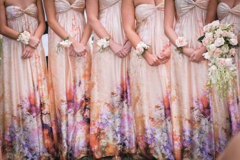 floral bridesmaids