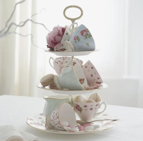 floral high tea cups