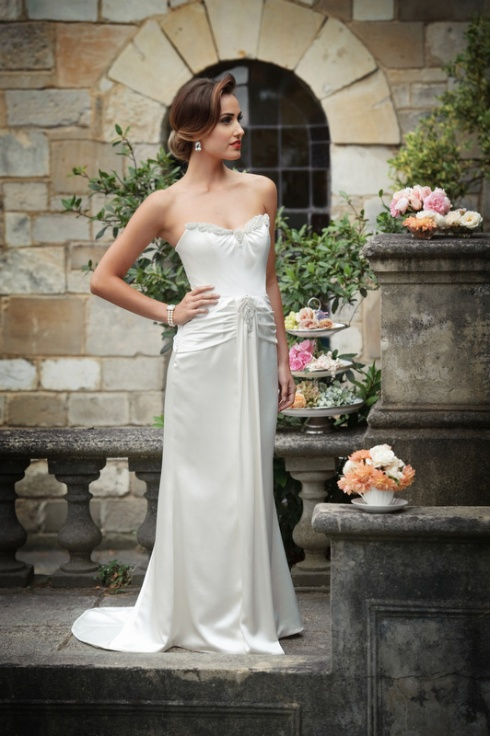 Couture wedding gown - strapless
