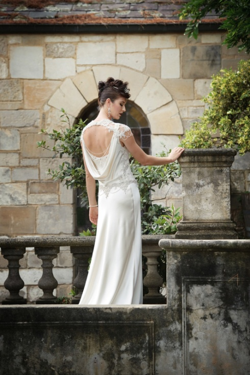 Couture Wedding gown with back detail
