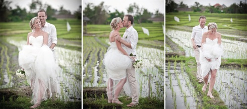 Bali wedding - in the rice paddies