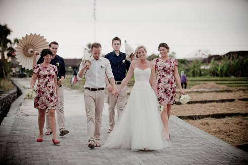 Bali wedding - bridal party