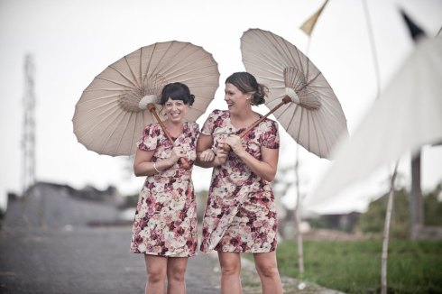 Bali wedding - bridesmaids