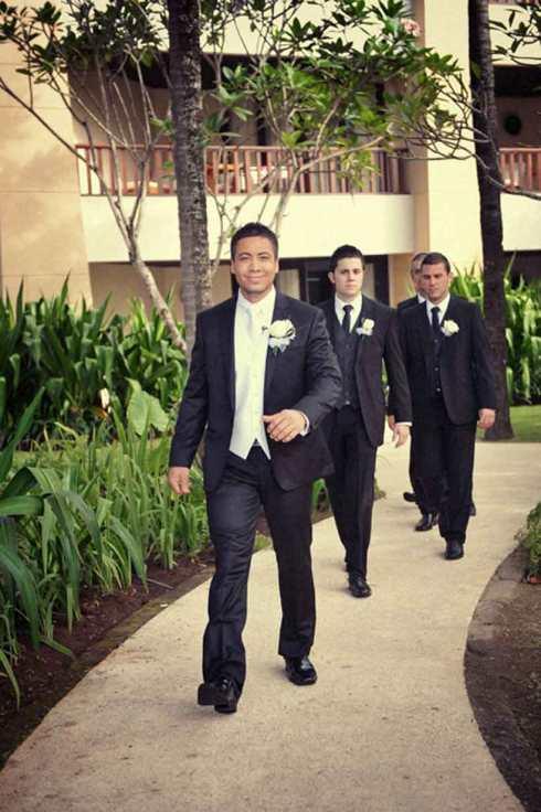 Allan and his groomsmen - Bali wedding