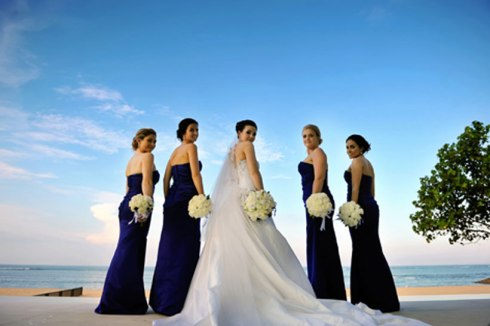 Danielle and her bridesmaids - Bali wedding