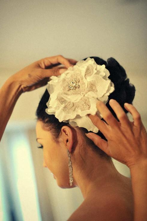 Danielle's hair piece - Bali wedding