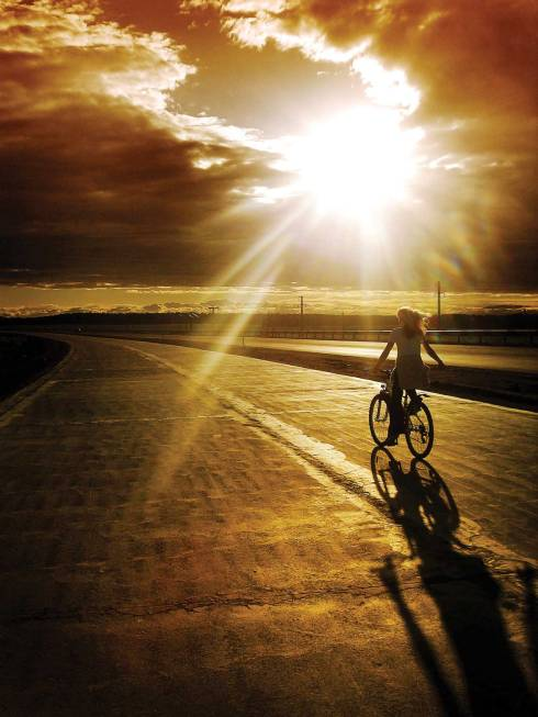Relax and get fit riding at sunset