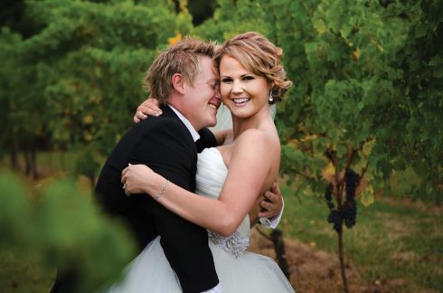 Bride and Groom - A Winery Wedding
