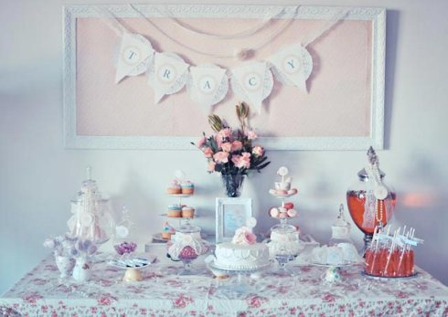 Candy Buffet - Pretty Little Vintage Bridal Shower