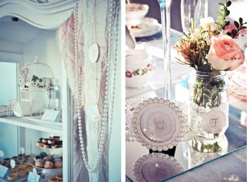 Decoration Detail - Pretty Little Vintage Bridal Shower