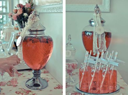 Drink Station - Pretty Little Vintage Bridal Shower