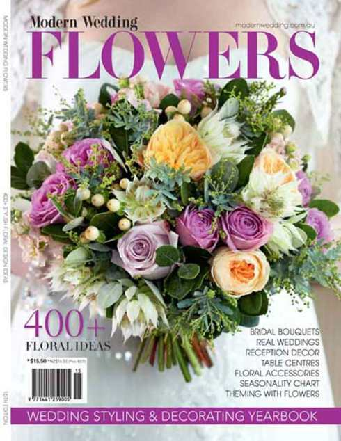 Modern Wedding Flowers Magazine cover