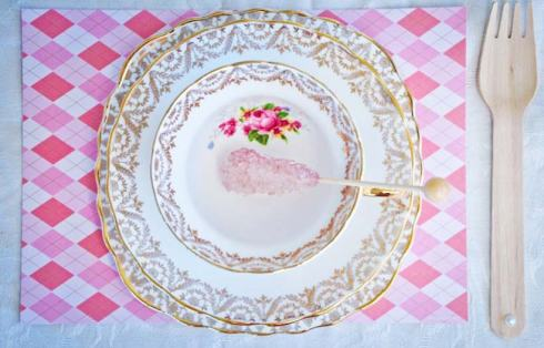 Table Setting - Pretty Little Vintage Bridal Shower