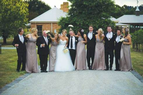 The Bridal Party - A Winery Wedding