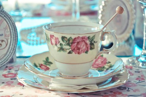 Vintage Tea Cup - Pretty Little Vintage Bridal Shower