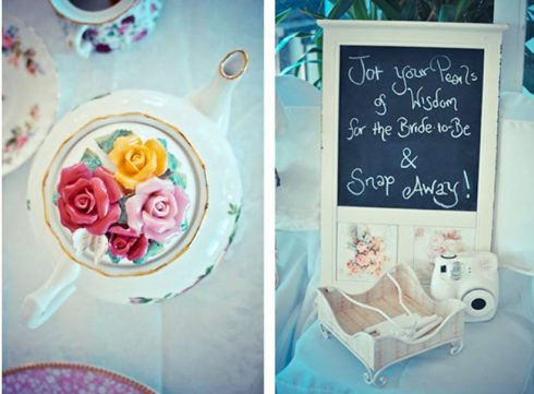 Vintage Tea Pot and Photo Booth - Pretty Little Vintage Bridal Shower