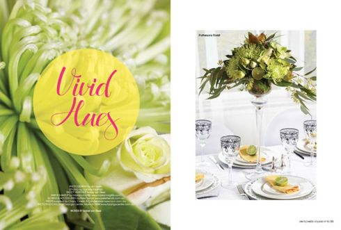 Vivid Hues - Modern Wedding Flowers magazine
