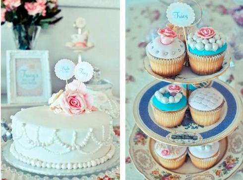 Yummy Cakes - Pretty Little Vintage Bridal Shower