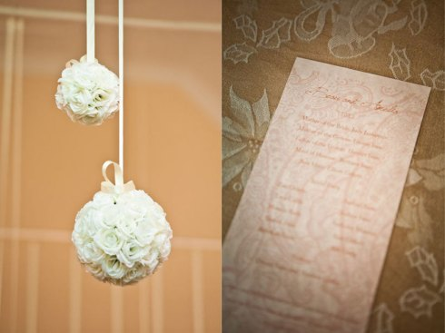 Hanging Flower bombs and Wedding stationery